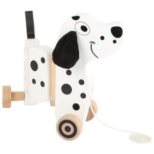 Cane Dalmata da trainare in legno