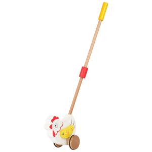 Gallina da trainare gioco in legno per bambini