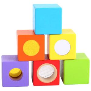 Cubetti da costruzione in legno piccoli esploratori