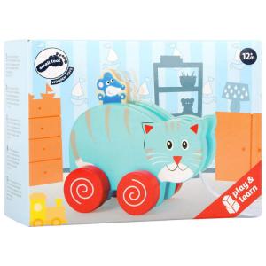 gatto e topo da trainare Gioco in legno per bambini