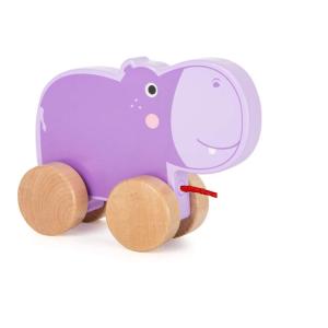 Ippopotamo da trainare Gioco in legno per bambini