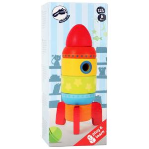 Razzo colorato da accatastare Gioco in legno per bambini