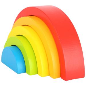 Arcobaleno in legno gioco motorio per bambini