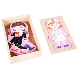 Puzzle in legno Lavoro dei sogni Ragazza da vestire Gioco per bambine