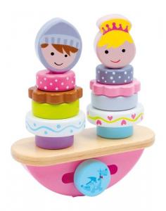 gioco in legno sbarra/dondolo equilibrismo con figure per bambini