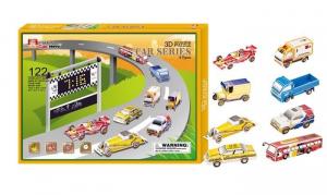Puzzle 3D 8 automobili, 122 pezzi,regalo,gioco bambini