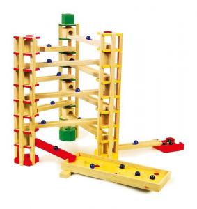 Pista torre per biglie a gioco in legno per bambini