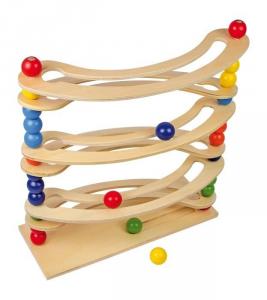 Pista per biglie Flexi con sfere colorate gioco in legno per bambini
