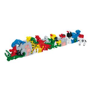 Puzzle incastro lettere e numeri in legno giocattolo, gioco didattico bambini