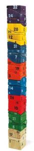 Costruzioni mega torre con mattoncini legno gioco per bambini
