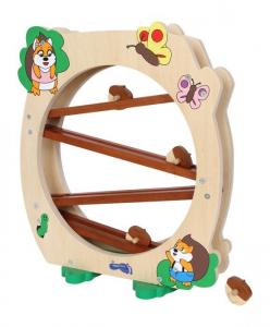 Pista Scoiattoli gioco in legno massiccio per bambini