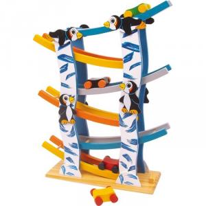 Pista Pinguini con macchinine gioco in legno bambini Legler 6133