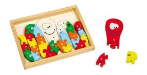 Puzzle in cornice ABC polipo in legno gioco per bambini