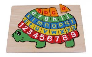 Puzzle ABC tartaruga in legno gioco per bambini