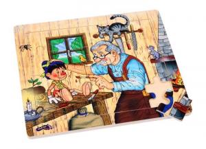 Puzzle officina di Geppetto/pinocchio legno gioco x bambini