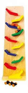 Pista/Torre a cascata zip zap gioco in legno per bambini