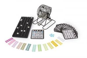 Bingo con accessori colorati tombola gioco per bambini ed adulti