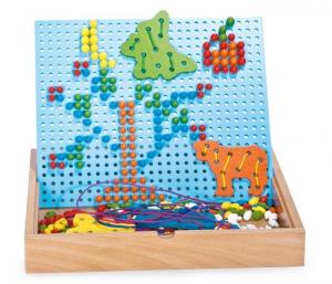 Puzzle da incastrare e da infilare gioco in legno per bambini