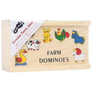 Piccolo Domino in legno Fattoria gioco bambini