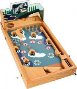 Flipper Pinball in legno da tavolo Campo da Golf giocattolo bambini