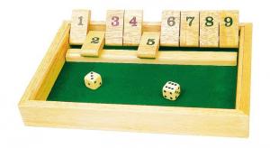 Gioco da tavolo in legno massiccio Shut the box