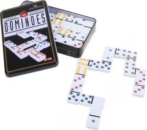 Domino a 6 colori in confezione metallica gioco bambini