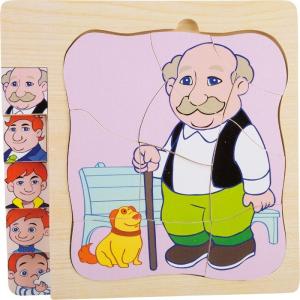 Puzzle in legno a strati La vita del nonno