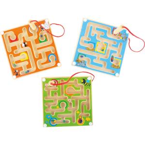Labirinto in legno magico. Gioco per bambini. Espositore display per negozi edicole