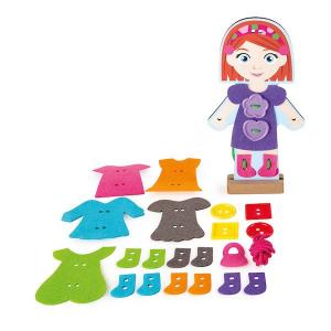 Infila i vestiti Ragazzina Gioco Montessori