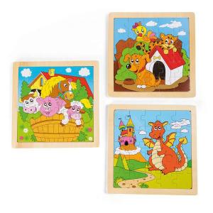 Puzzle nella cornice con animali set nr.2 Legler 10188