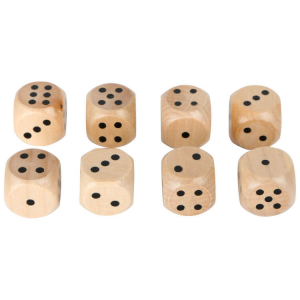 Dadi in legno set 8 pezzi gioco per bambini