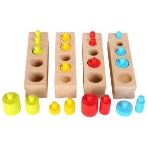 Gioco ad incastro in legno variopinto Gioco Montessori