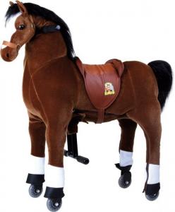 Cavallo Cavalcabile con ruote giocattolo per bambini, Fulmine