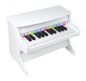 Pianoforte bianco in legno Strumento Musicale giocattolo