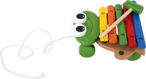 Xilofono Rana strumento musicale in legno gioco bambini