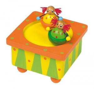 Carillon Clown in legno musica e suono giocattolo bambini