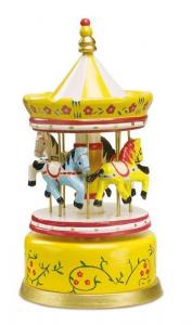 Carillon per bambini Giostrina con cavalli con musica e suono