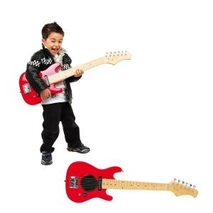 Chitarra Elettrica Rossa Strumenti Musicali Giocattolo Bambino Bambina