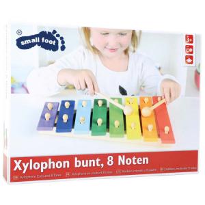 Xilofono colorato a 8 piastre strumento musicale in legno gioco bambini