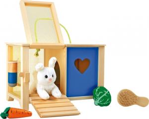 Casetta per coniglio con accessori  per far imparare la cura degli animali