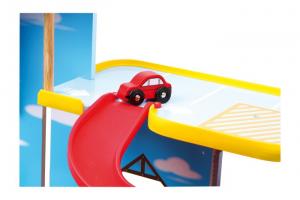 Gioco Pista garage multipiano Lunapark in legno con accessori