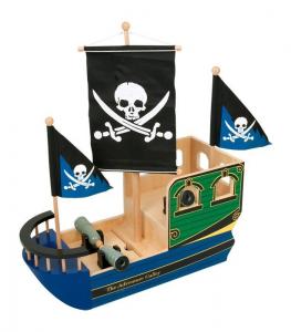 Barca dei pirati in lagno con accessori
