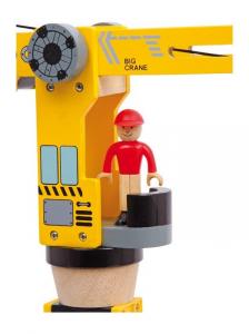 Set costruzione Gru City in legno con accessori Idea regalo per bambino