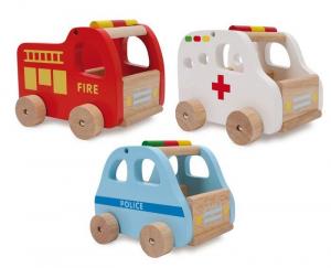 Auto/Macchinine in legno da salvataggio pompiereambulanzapolizia
