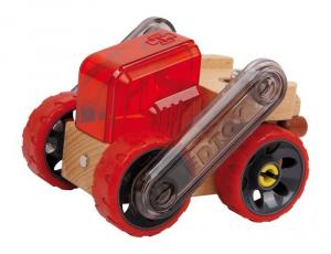Autocarro con cassone Caterpillar in legno con diverse combinazioni di gioco