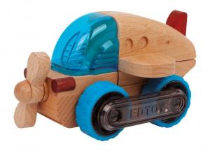 Aeroplano veicolo in legno trasformabile