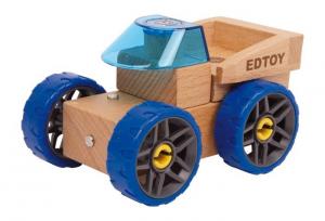 Modellino in legno auto della polizia da assemblare gioco bambini