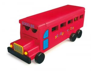 Bus scolastico in legno con accessori