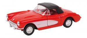 Modellino auto Chevrolet ´57 Corvette con porte apribili e molla richiamo