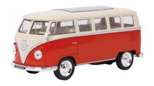 Modellino auto VW Classical Bus porte apribili e molla richiamo